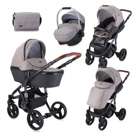 Kolica za bebe 3u1 Lorelli Rimini String and Black